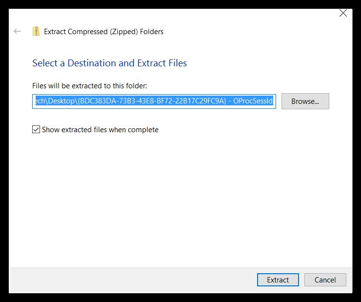 Unzip Files in Windows – Working Technology LLC